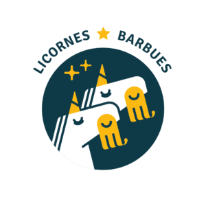Logo licornes barbues
